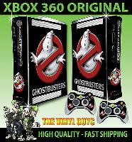 XBOX 360 OLD SHAPE GHOST BUSTERS LOGO GHOSTBUSTERS STICKER SKIN & 2 PAD SKIN for sale  Barnsley