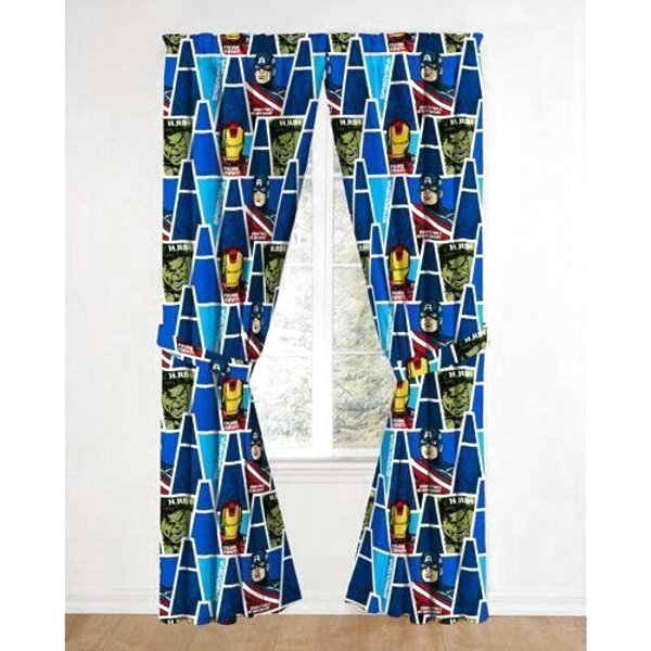 MARVEL AVENGERS STRONG CURTAINS 66in x 72in NEW OFFICIAL