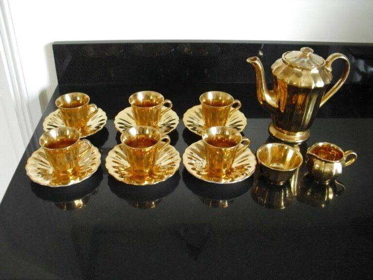 wade gold coffee set for sale