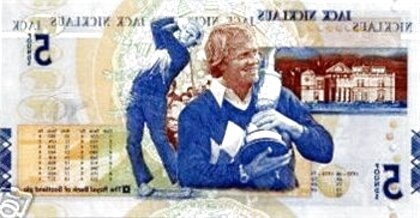 jack nicklaus 5 note for sale