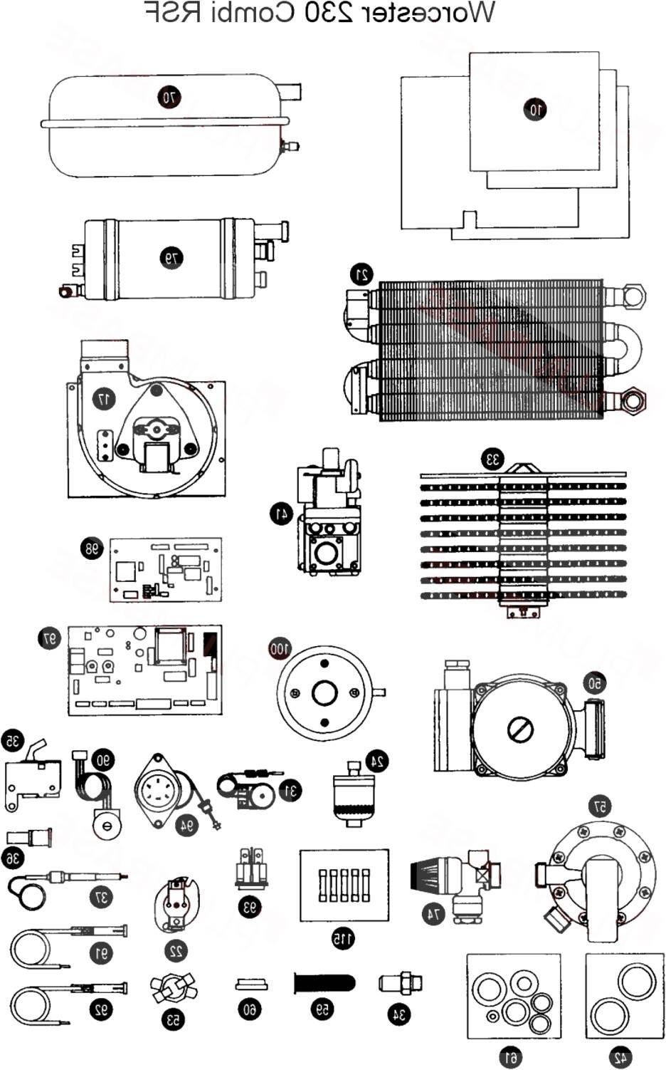 worcester oil boiler parts for sale