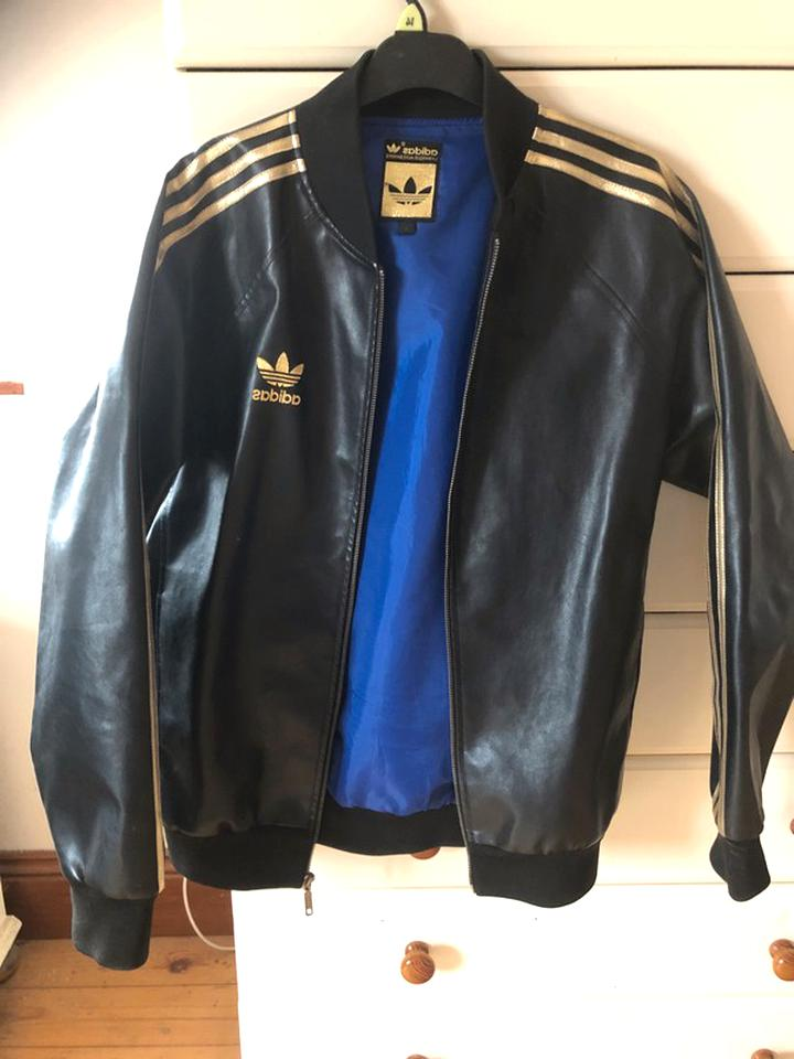 adidas leather jacket for sale