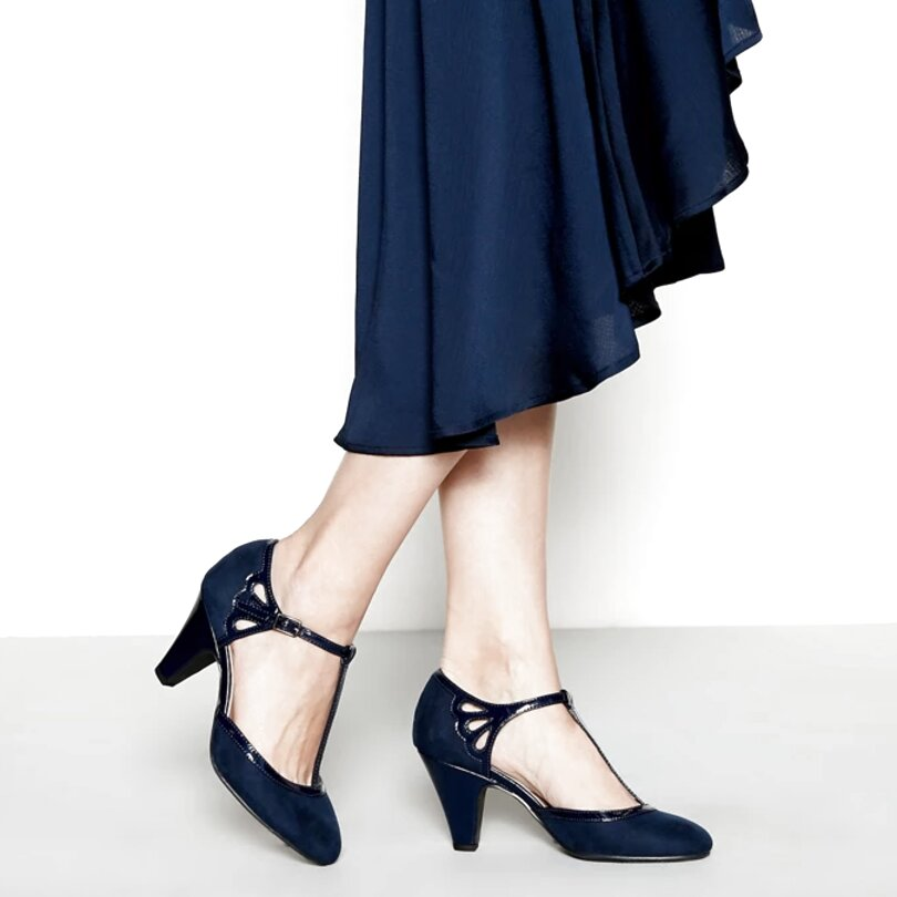 t bar shoes navy for sale