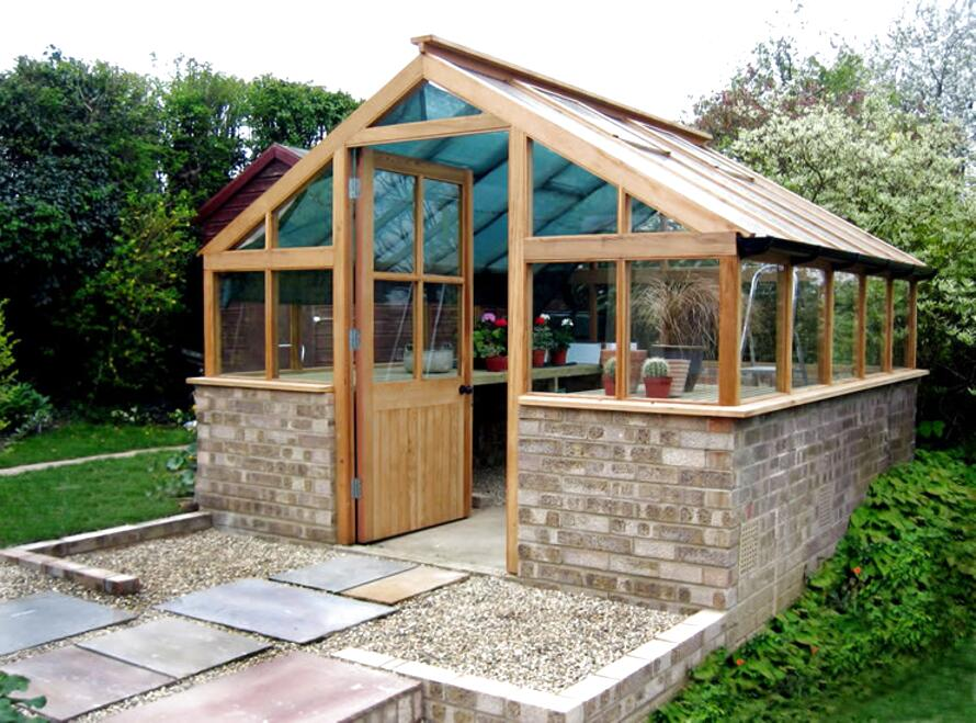 timber greenhouse for sale