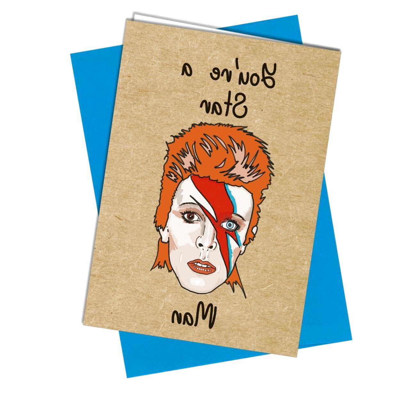 Mobel Wohnen David Bowie Greeting Card Handmade Original Art Blank Icon Birthday Card Music Maybrands Com Ng