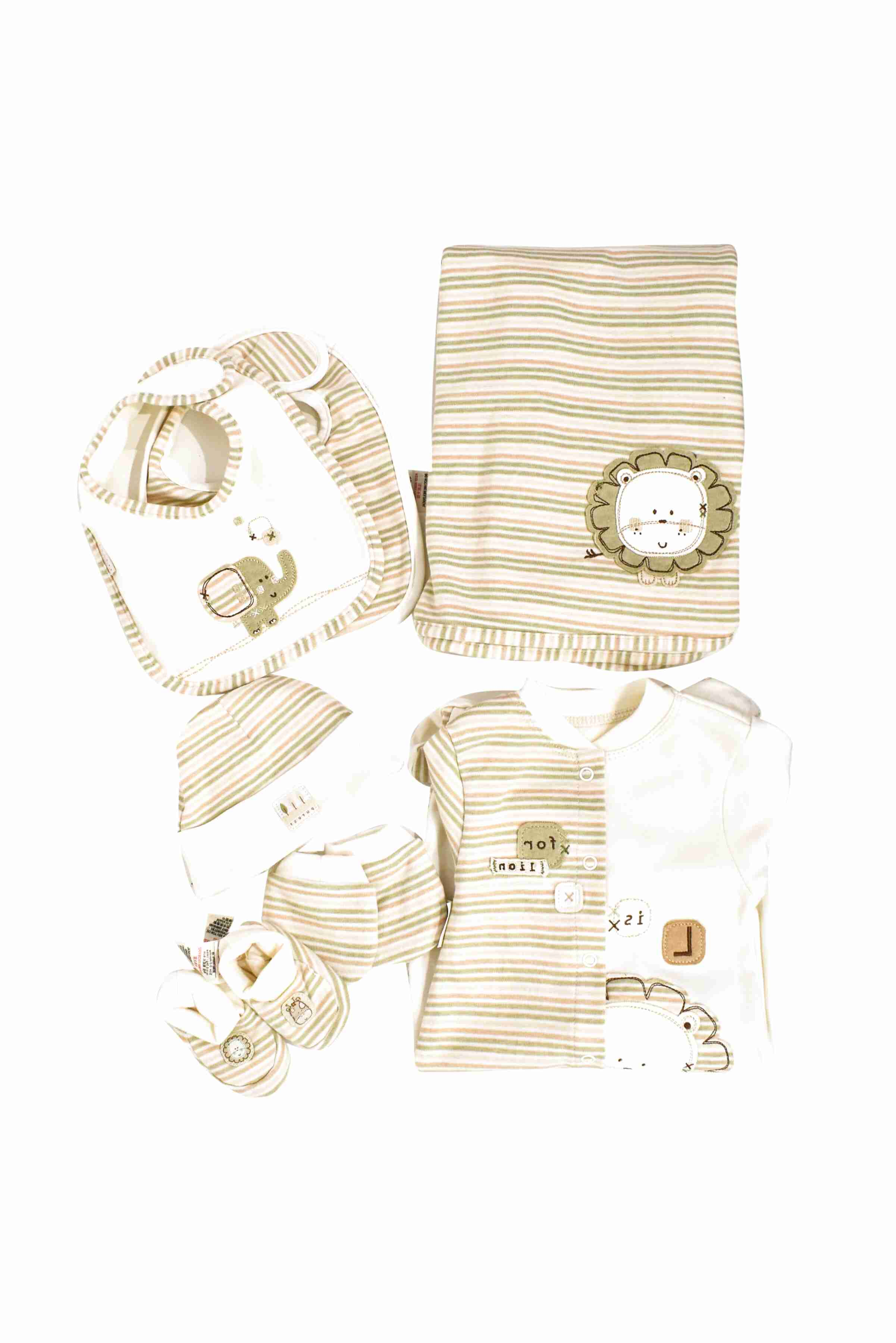KATIES PLAYPEN BABY BEST BUYS Natures Purest Cream Mink /& Pink Striped All in One 0-3 Months