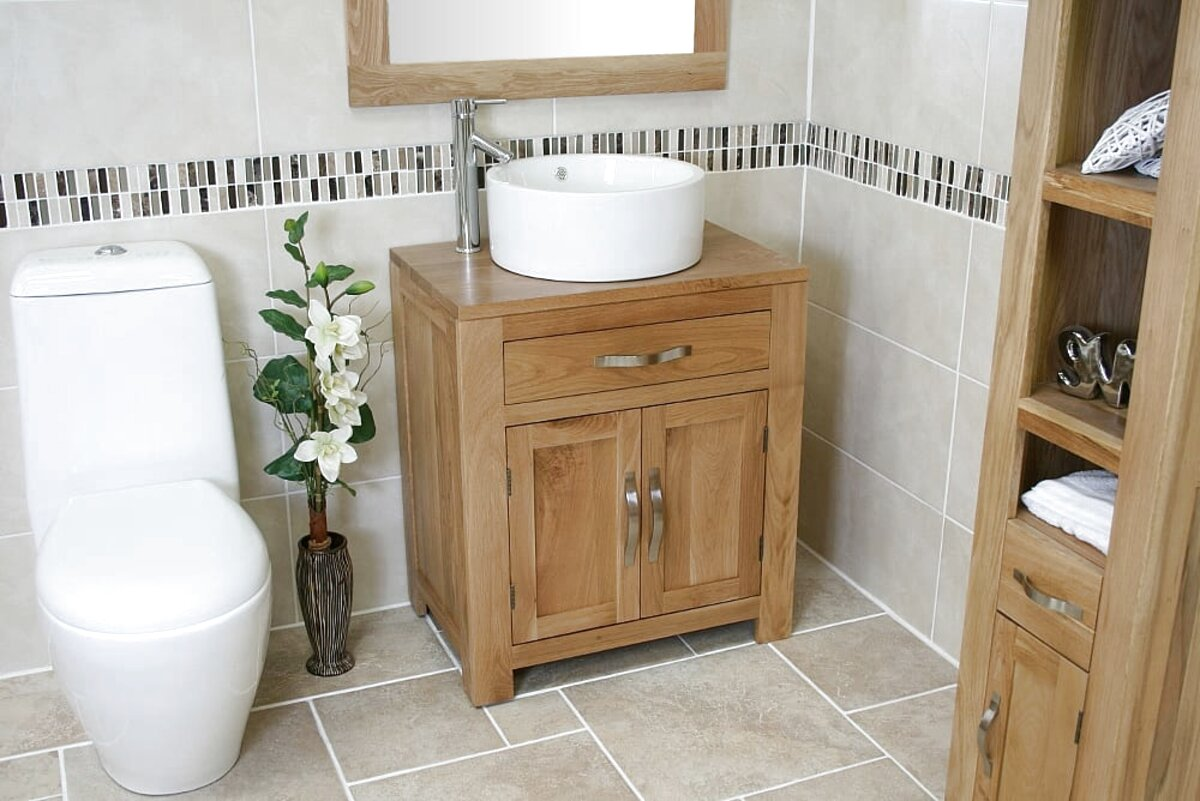 oak bathroom basin unit for sale