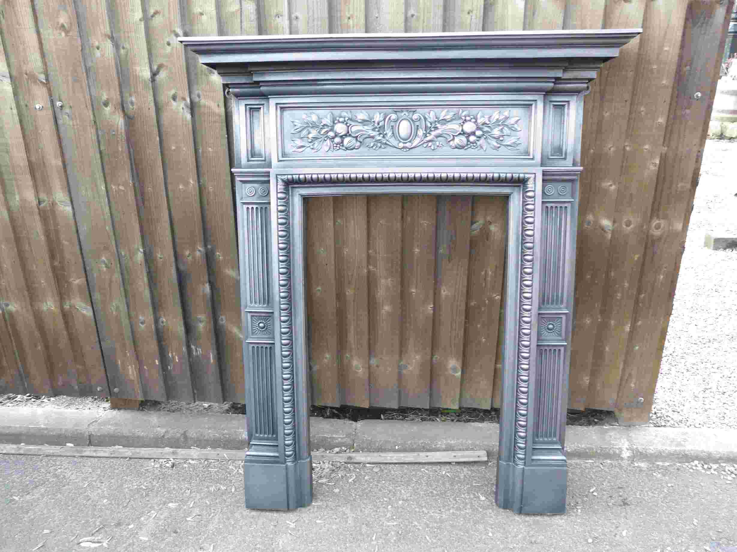 victorian cast iron fire surround for sale