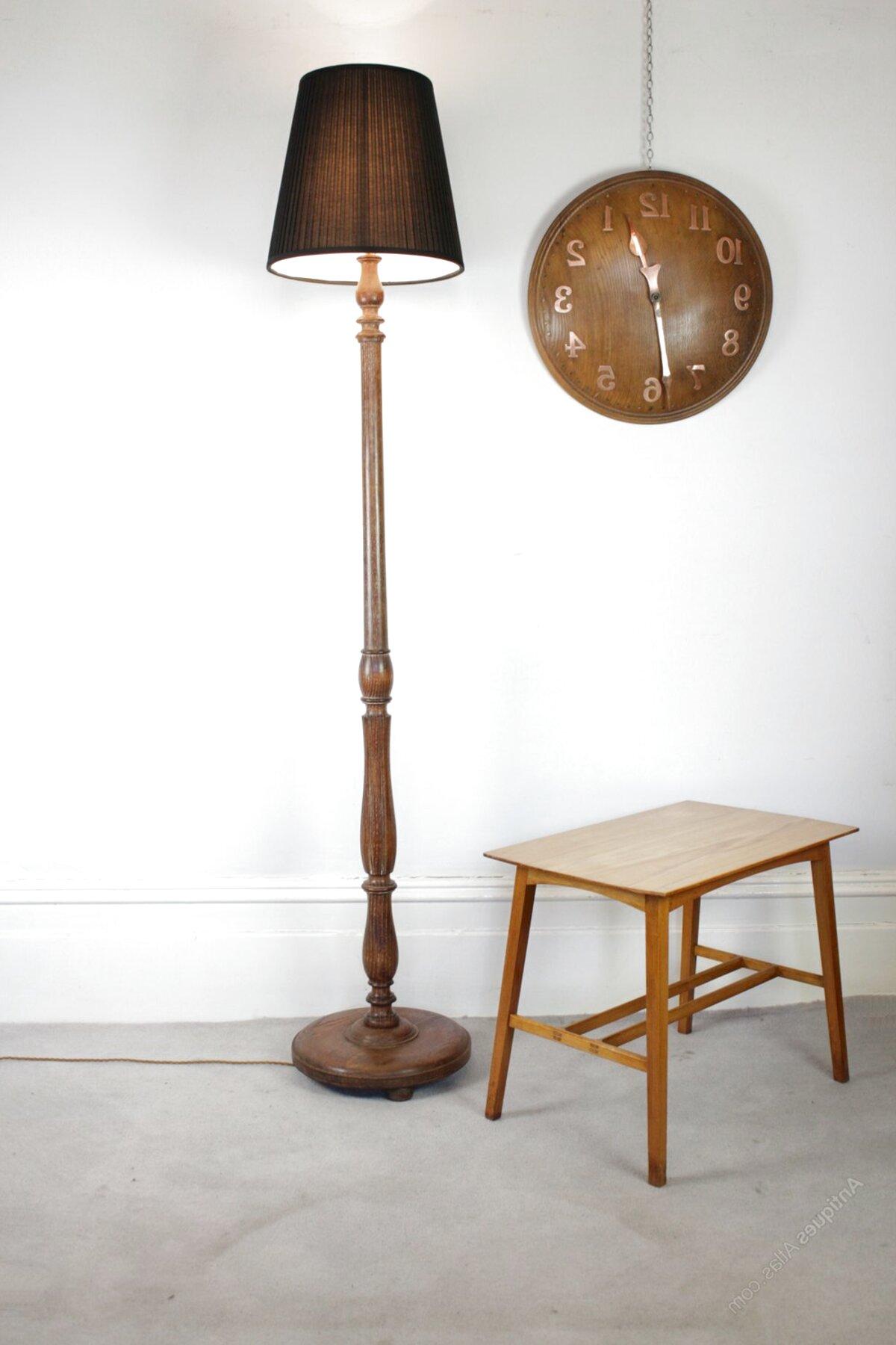 oak floor lamp for sale