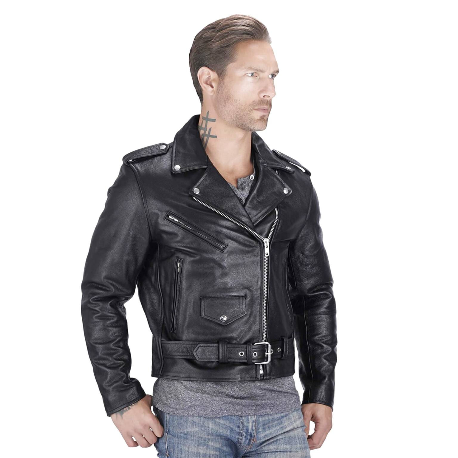 real leather biker jacket for sale