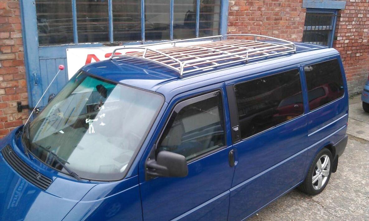 UKB4C Roof Rack Cross Bars fits VW Volkswagen Transporter 1991-2002 T4 Low Roof