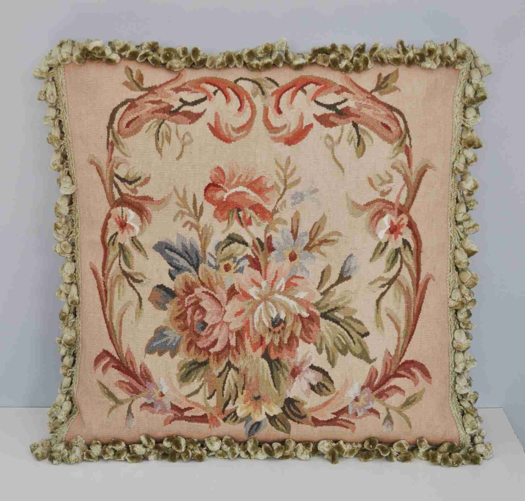 TAPESTRY PARTRIDGE BIRD /& PEAR FABRIC CUSHION COVER