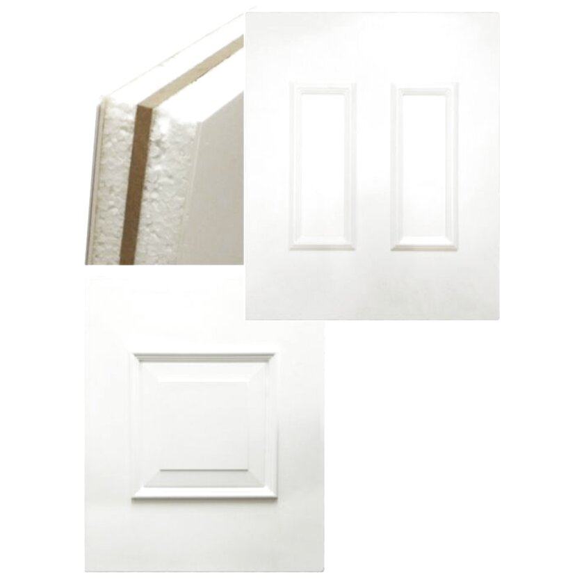 PVC UPVC White Flat Infill Door Panel 975mm x 1085mm Cut To Size Available