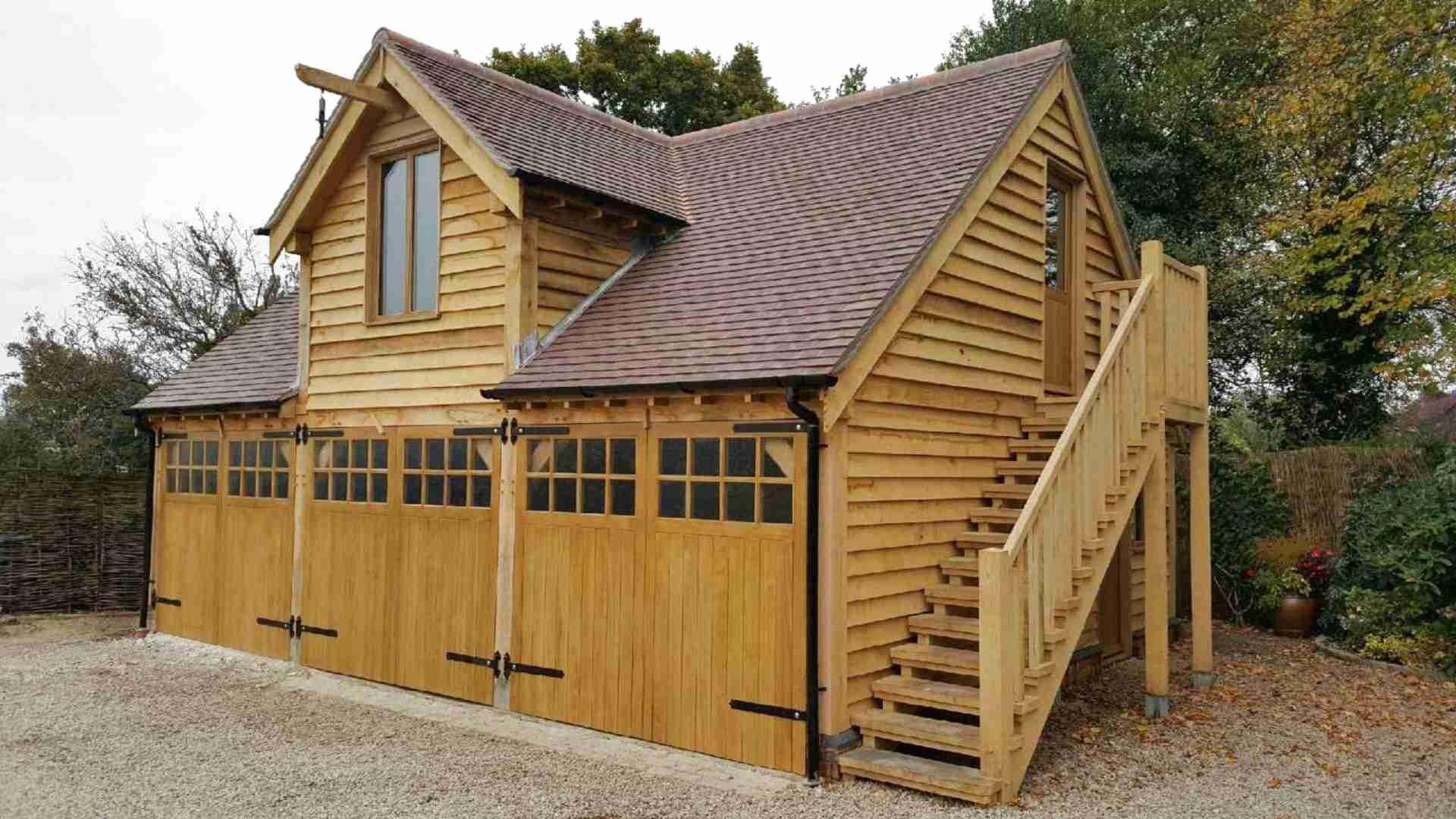 oak framed garage for sale