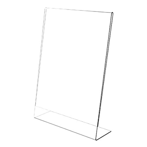 A6 Acrylic Sign Holder Presentation Stands Photo Holders and Menu Sign Holders Kurtzy 3 Pack Slant Back Sign Display Holder for Brochure Holder