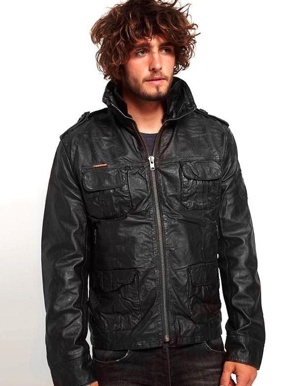 superdry brad leather jacket for sale