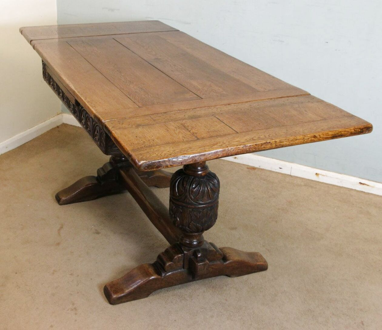 oak draw leaf table for sale