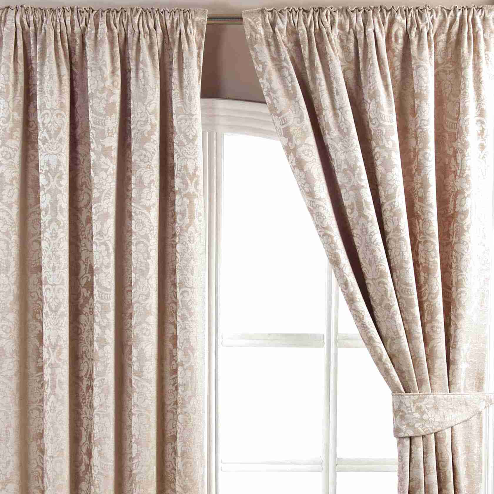 Jacquard Pencil Pleat Curtains For Sale In UK