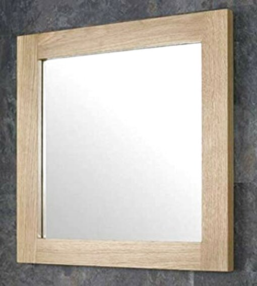 oak framed wall mirror for sale