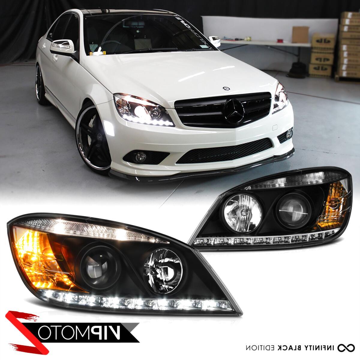 w204 led headlights for sale