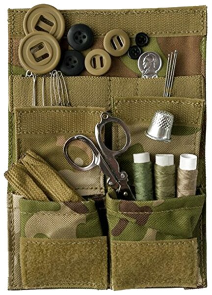 Dutch Army Sewing button thread kit tan cotton tool