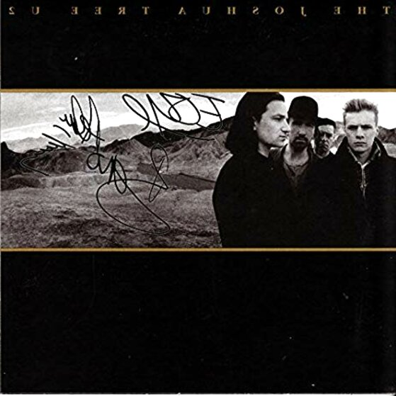 u2 signed for sale