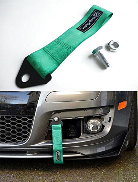 Sparco tow strap black JDM towing hook for tuning and racing cars