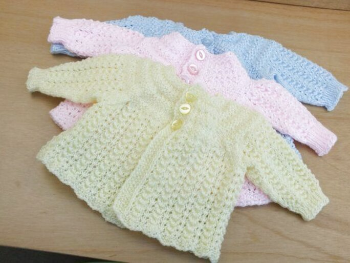 Hand Knitted Baby Matinee Coat
