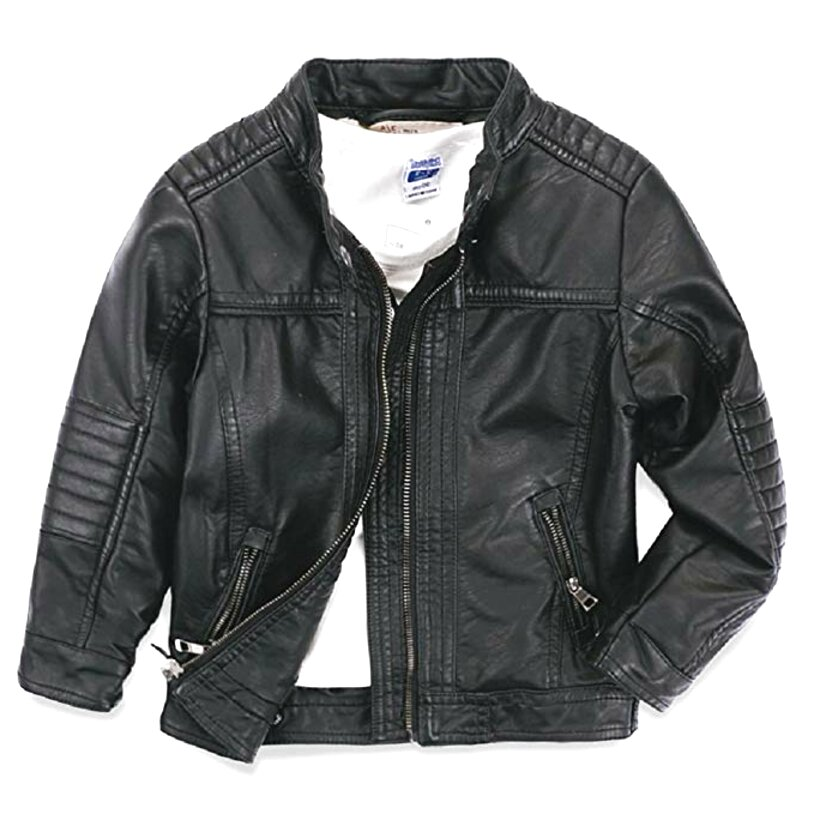 boys real leather jacket for sale
