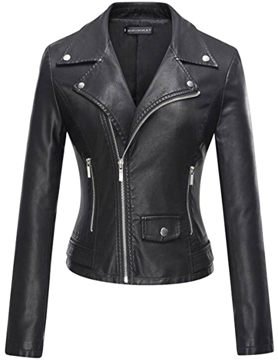 womens faux leather jacket for sale