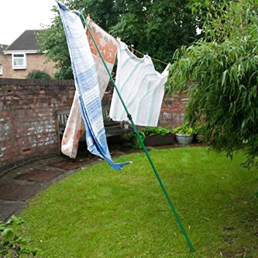 2.4m Large Galvanised Extendable Washing Line Prop Heavy Duty Extending