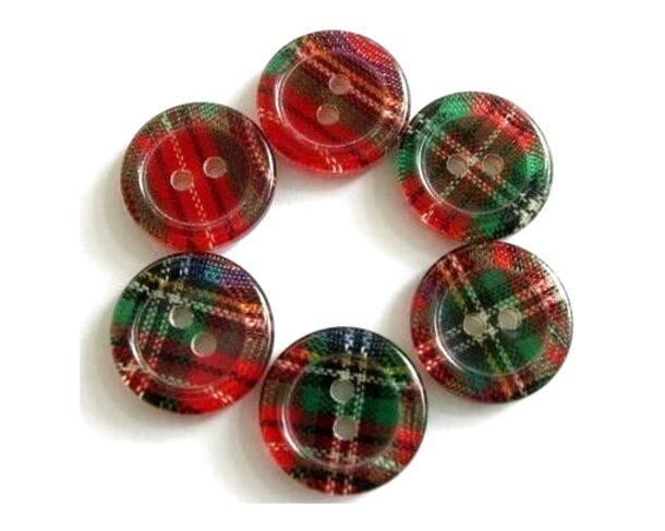 tartan buttons for sale