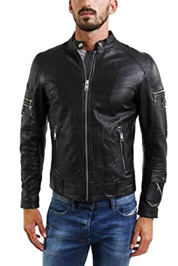 men diesel jacket leather for sale