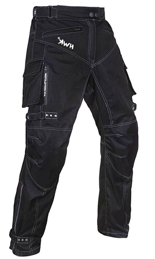 W44 L32, Black JET Motorcycle Motorbike Textile CE Armoured Waterproof Trousers Pants Zipper