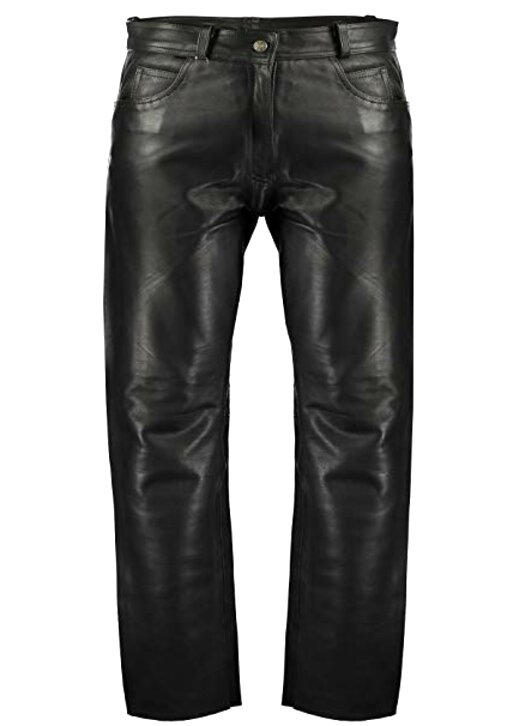mens leather biker trousers for sale