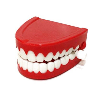 Funny Comedy Teeth Wind Up Chatter Choppers New Fancy Dress Toy Jokes 2Pcs