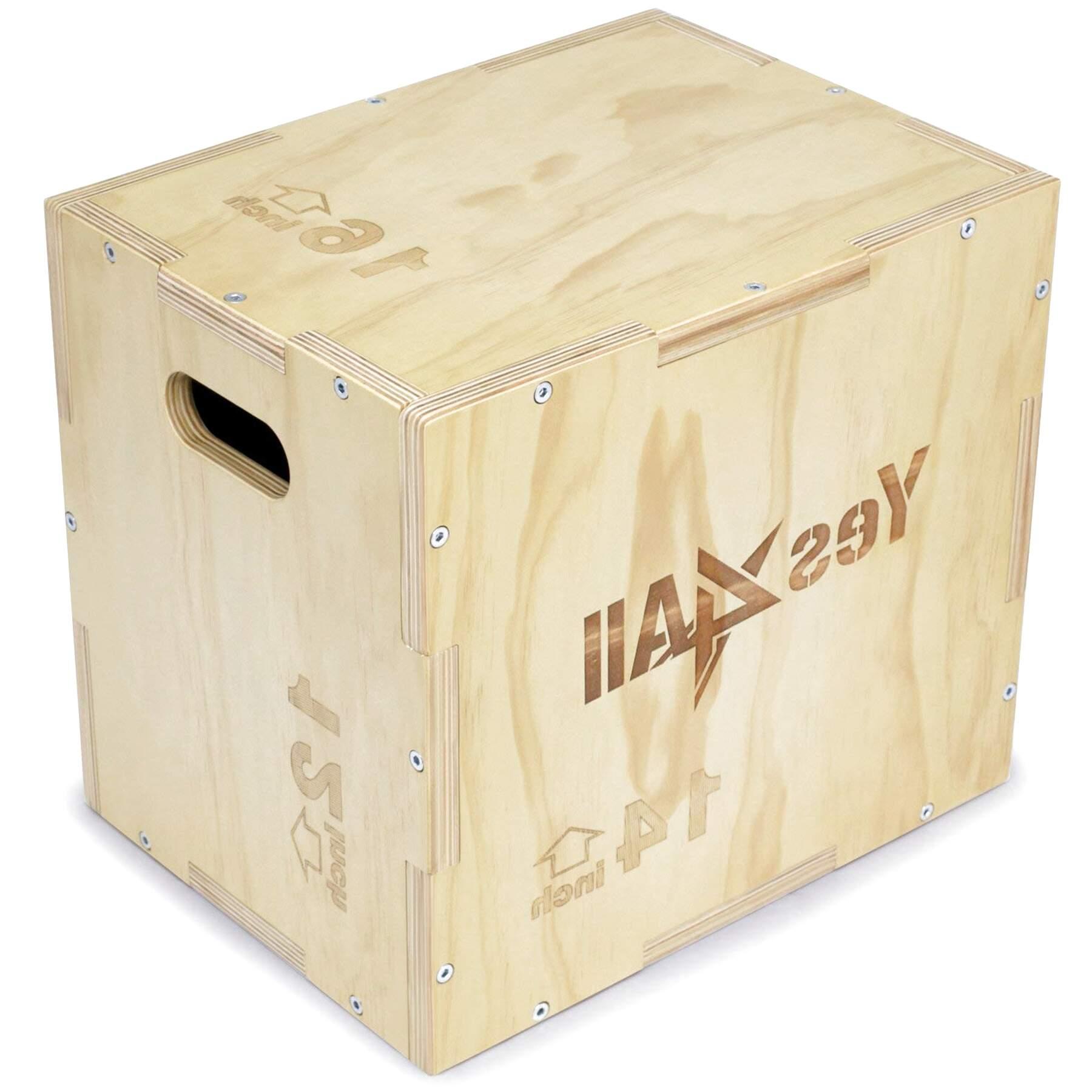 BuoQua 24 Inch Plyometric Box Exercise Plyometric Platform Jump Box Plyometric Training Jump Squat Box Fitness Box Set for Jump Training