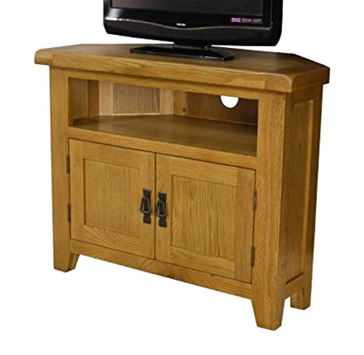 oak corner tv units for sale