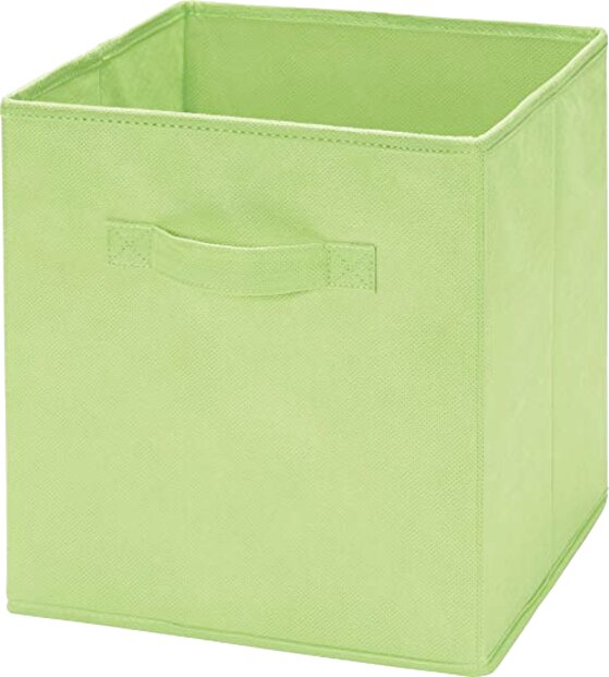 green fabric storage boxes for sale