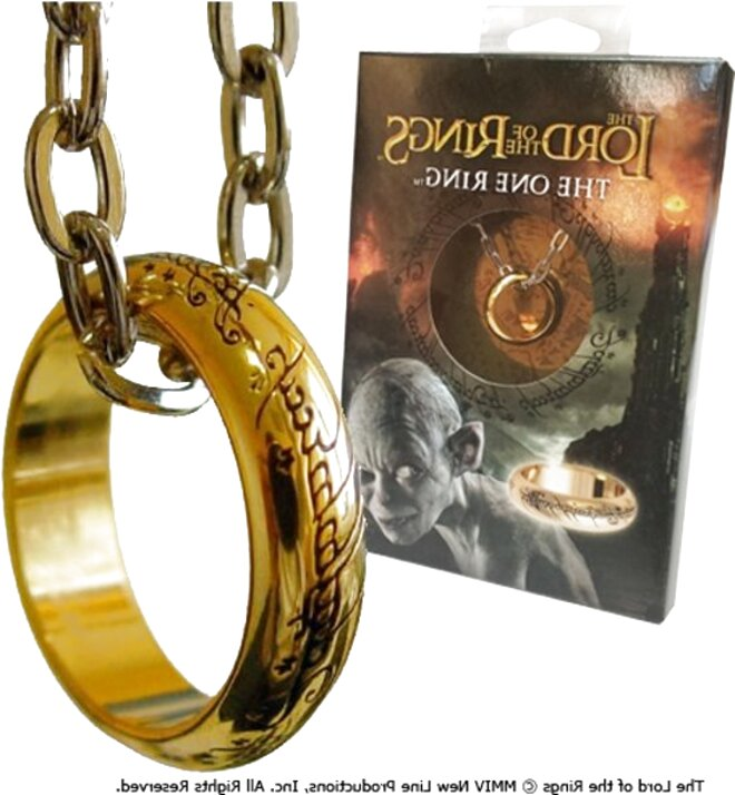 Replica Boxed US 10 Noble Lord of the Rings The One Ring Gold and Display Case