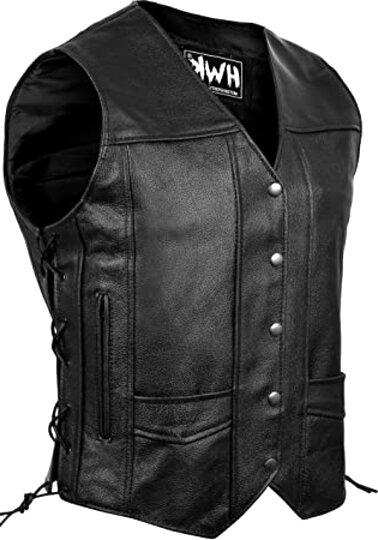 leather biker vest for sale