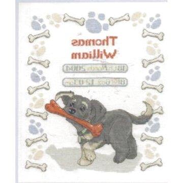 "Puppy Birth Sampler Cross Stitch Kit DMC 10/"" x 12/"" RSPCA"