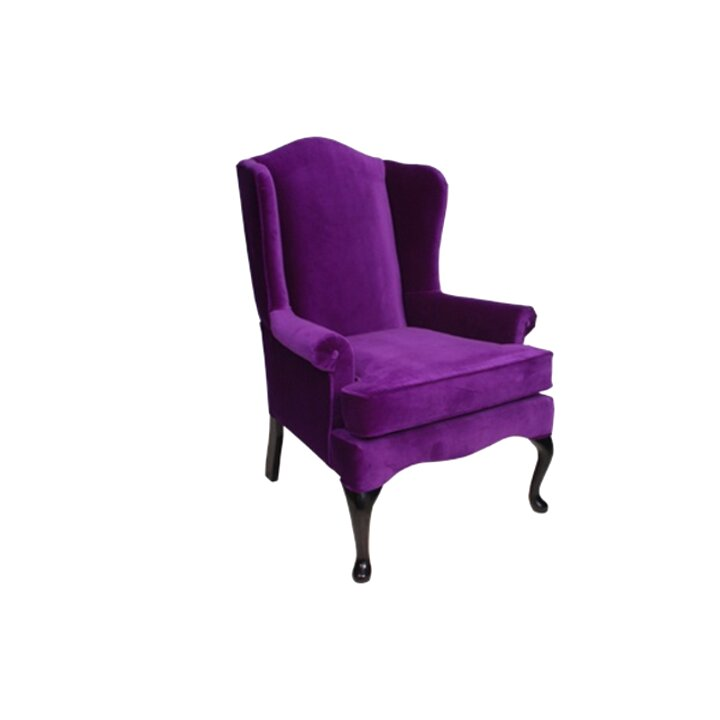 purple wingback chair for sale