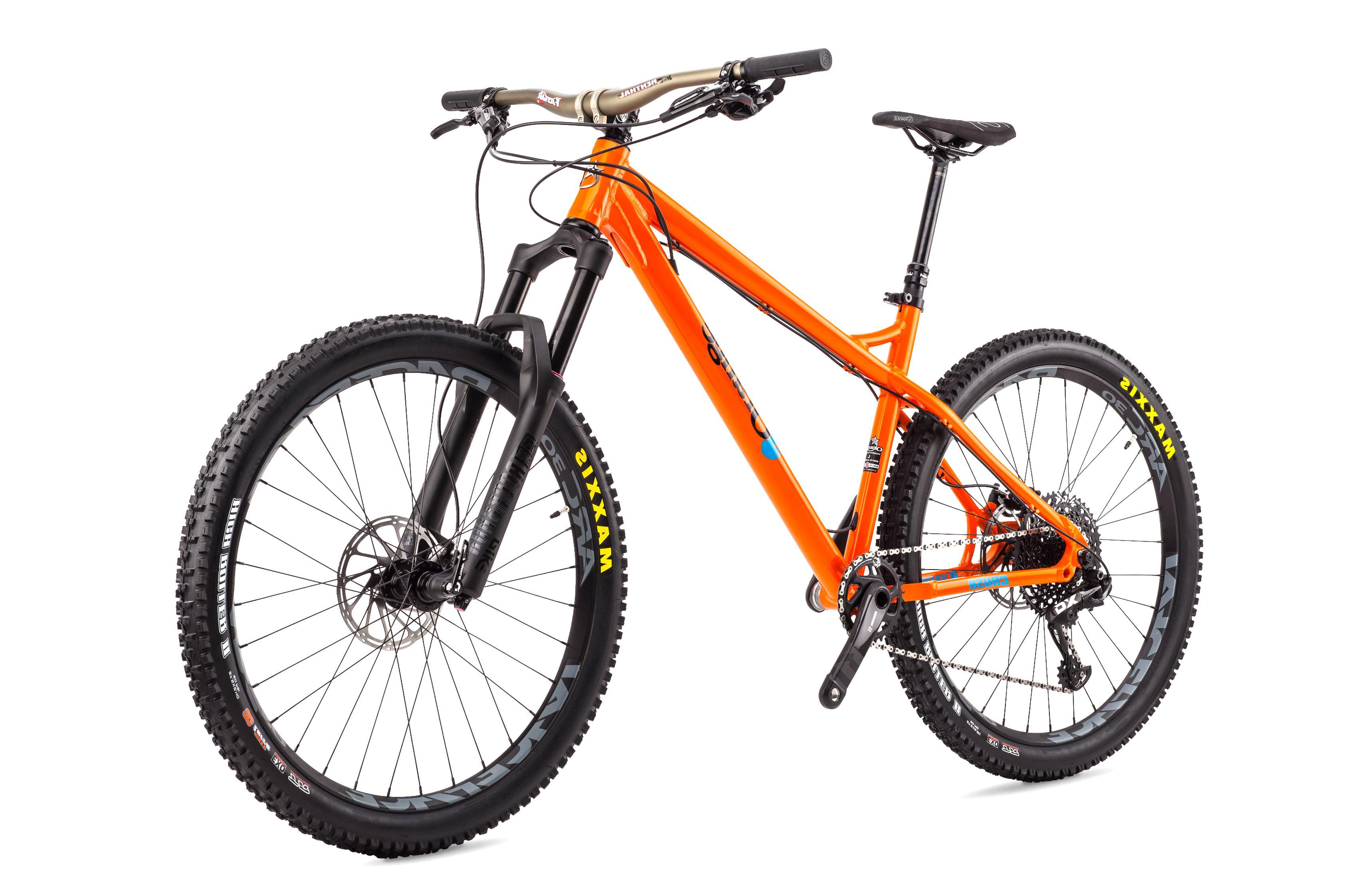 orange mountain bike for sale