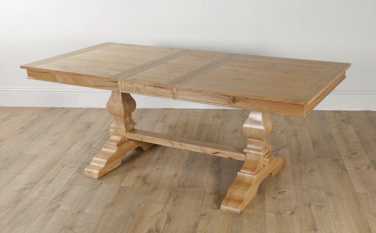 extending oak dining table for sale