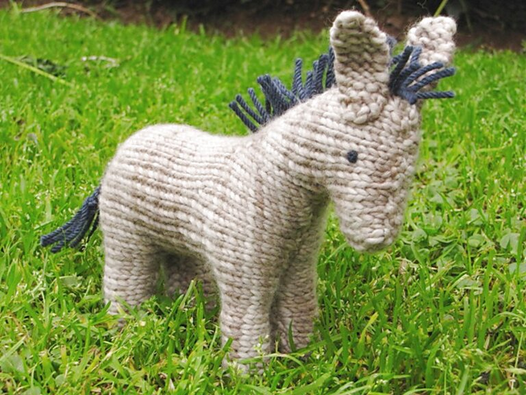 knitted donkey for sale