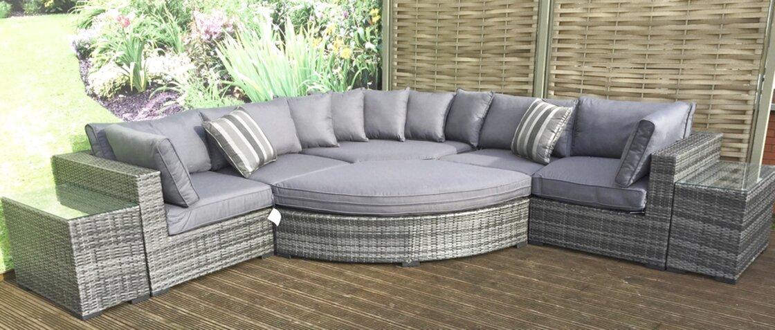 rattan garden furniture sofa for sale