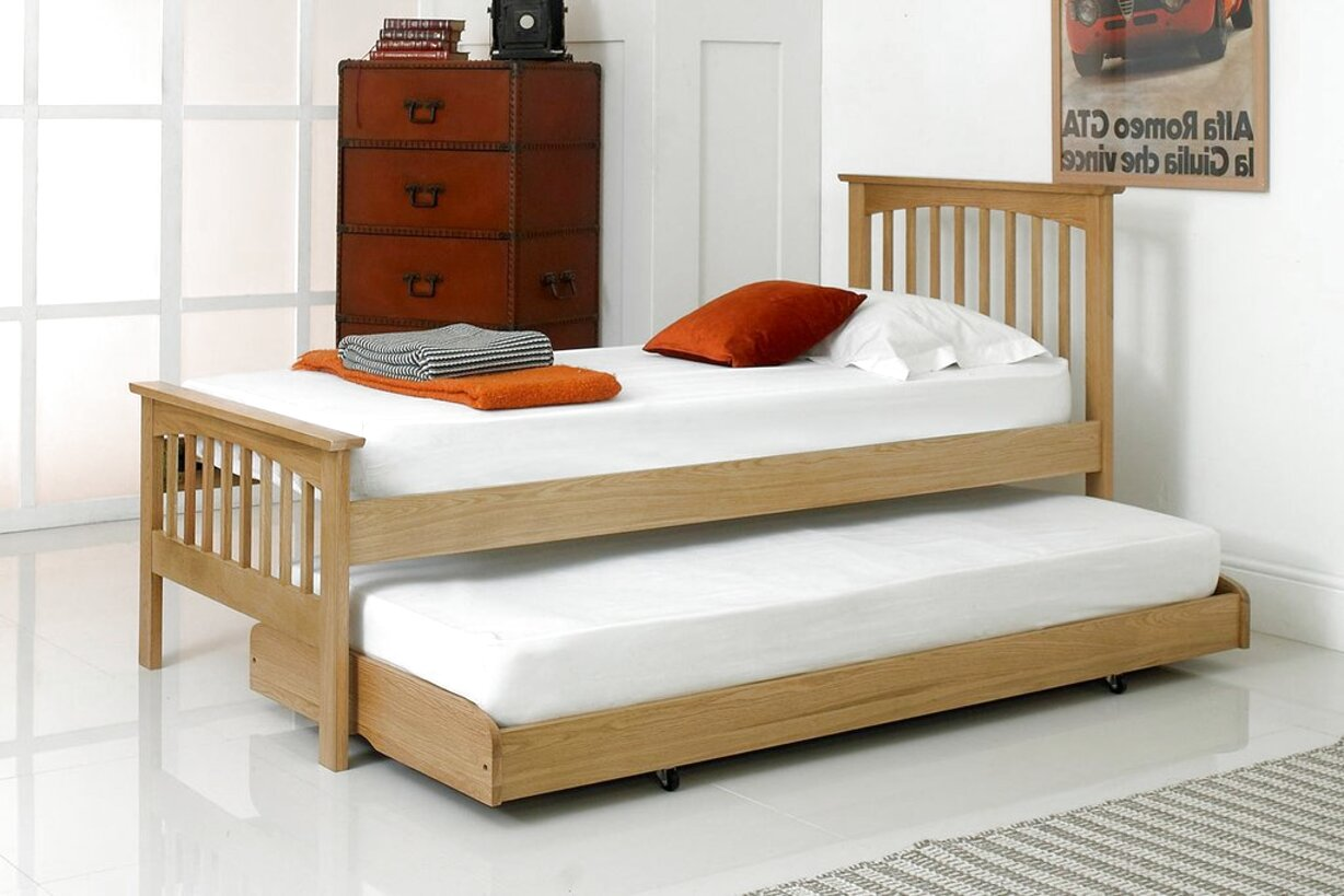 oak guest bed for sale
