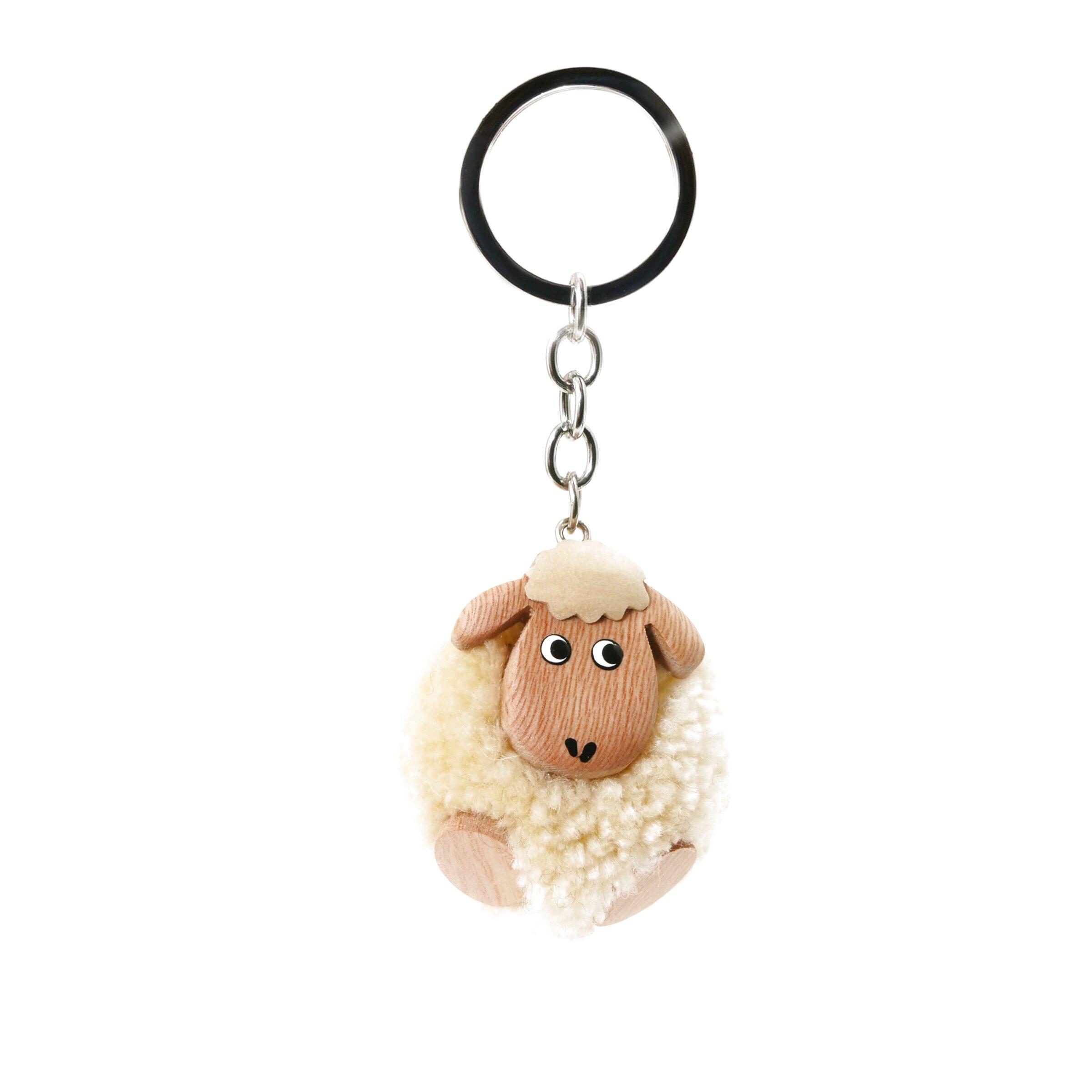 Welsh Sheep with Welsh Flag Acrylic Bag Purse Keyring Charm