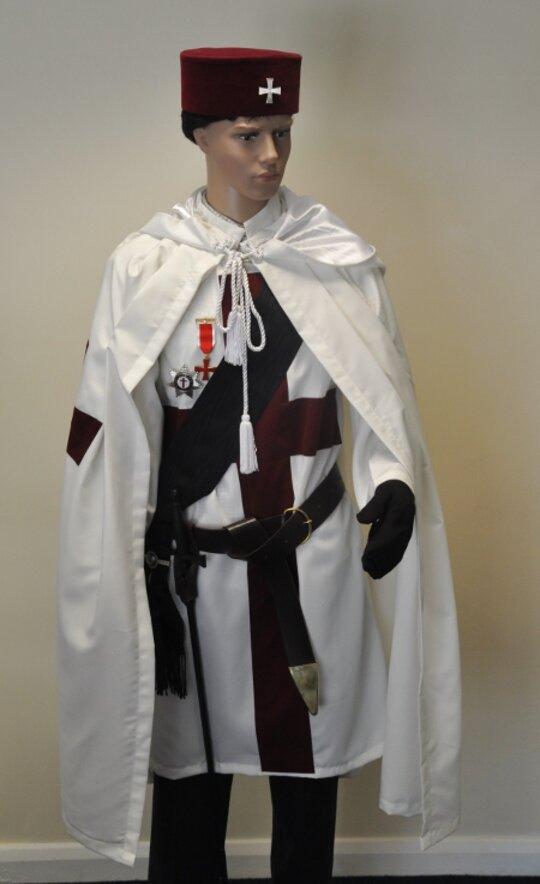 Masonic Knights Templar Cap with Badge KT Hat Masons Regalia freemason
